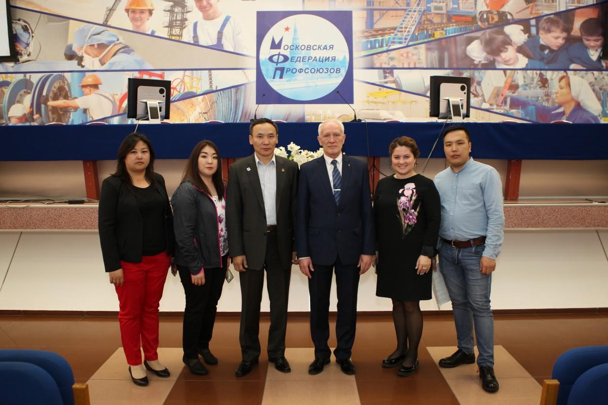 Делегация  Федерации профсоюзов Улан-Батора